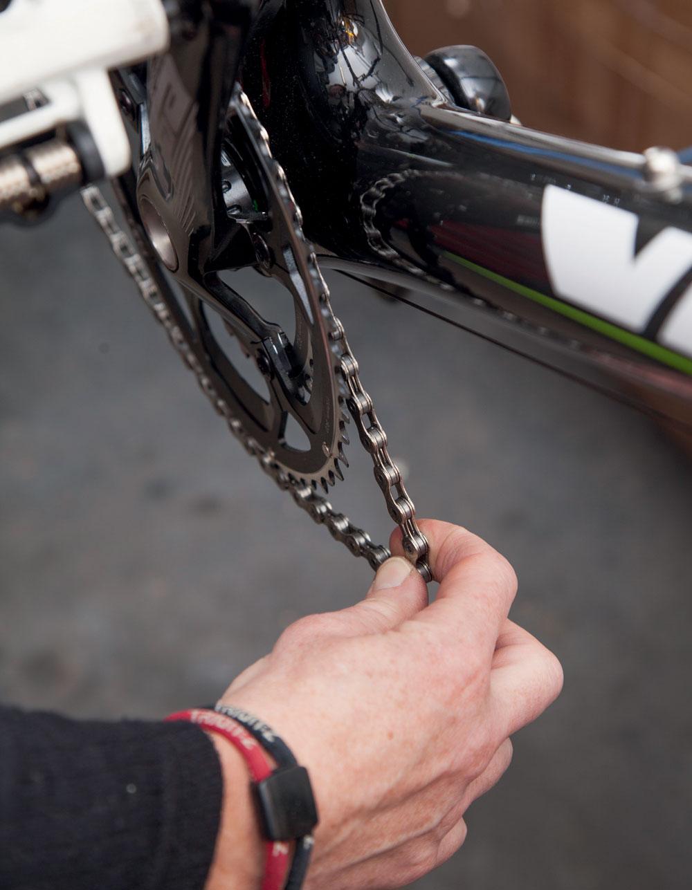 Возврат велосипедной цепи